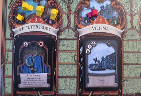 a study in emerald board game, close up, st. petersburg and vienna
