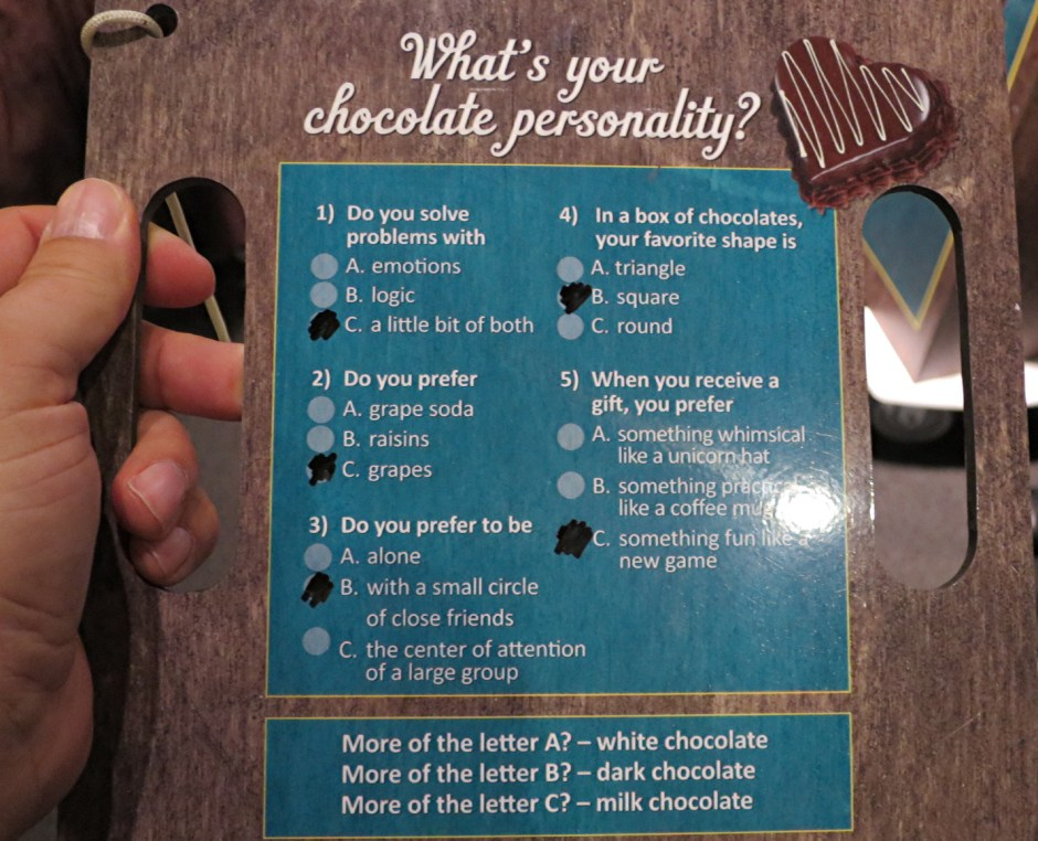 what's your chocolate personality?