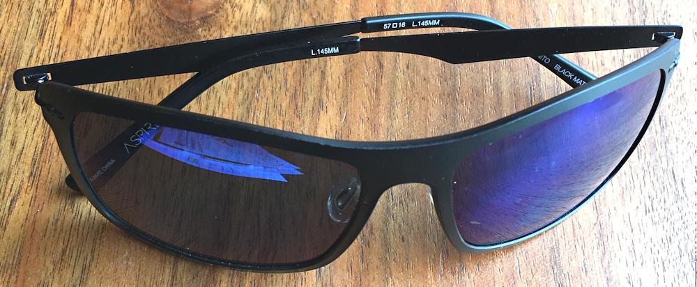 aspire eyewear incognito sunglasses black matte lens