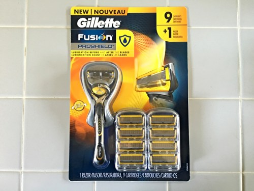 Gillette Fusion ProShield, 9 blade package for Sam's Club