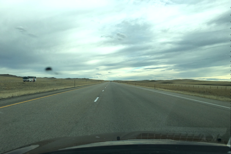 the open road, out the windshield