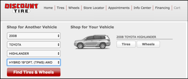 how to order a tire at discount tires online web