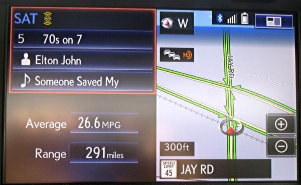 lexus es350 navigational entertainment system screen