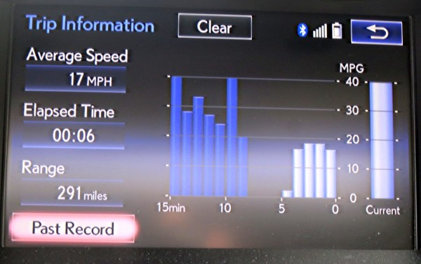 lexus es350 trip information display