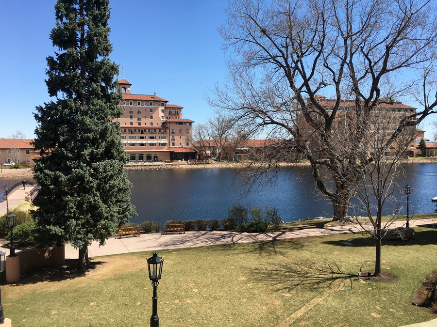 view off the patio, the broadmoor, colorado springs