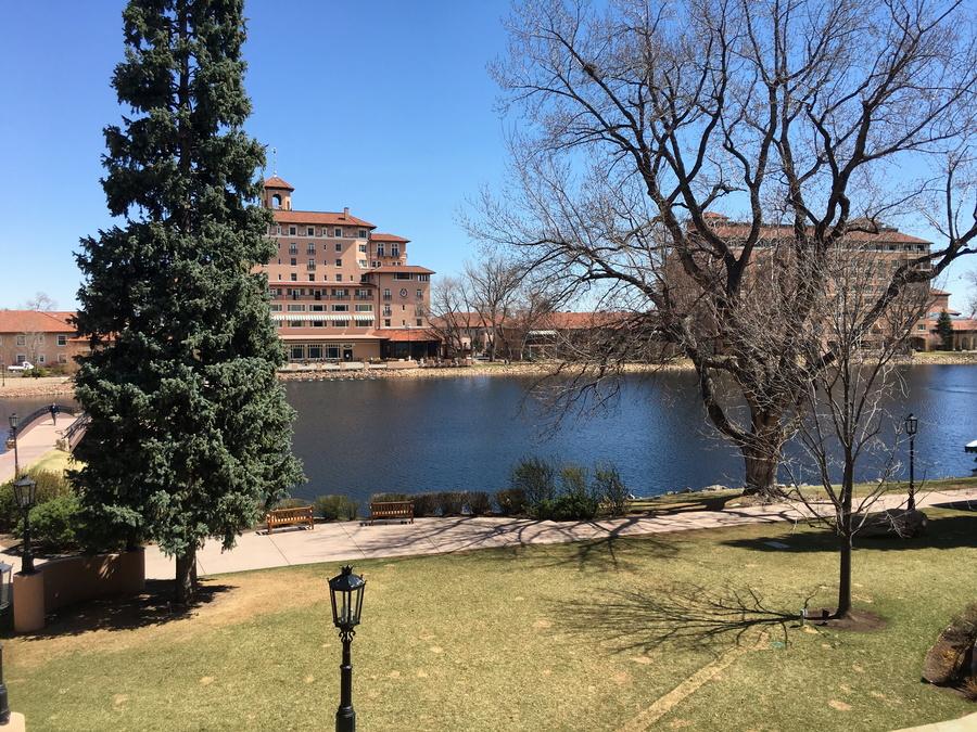 view off the patio, the broadmoor, colorado springs