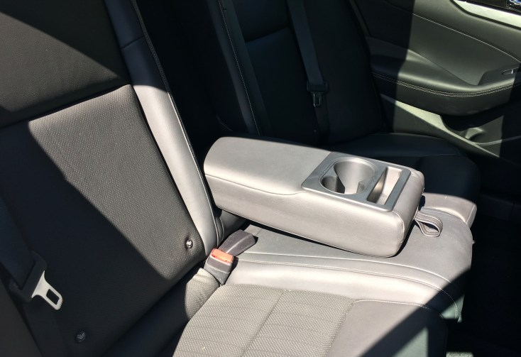 2016 nissan maxima back seat arm rest