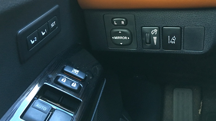 2016 toyota rav4 hybrid controls, left dashboard