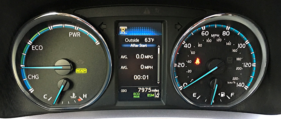 dashboard controls, 2016 toyota rav4 hybrid