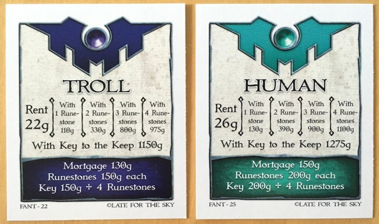 fantasy opoly property cards