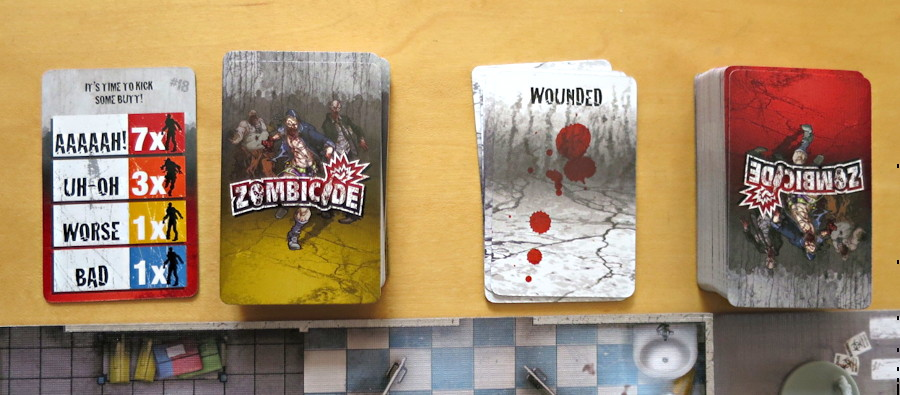 cards zombie zombicide board game