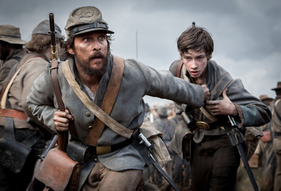 Matthew McConaughey, Jacob Lofland from free state of jones