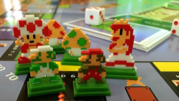 super mario bros monopoly collectible tokens