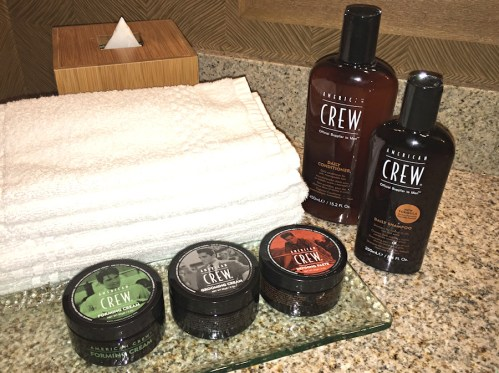 someday, american crew hair care products will be standard in hotel bathrooms