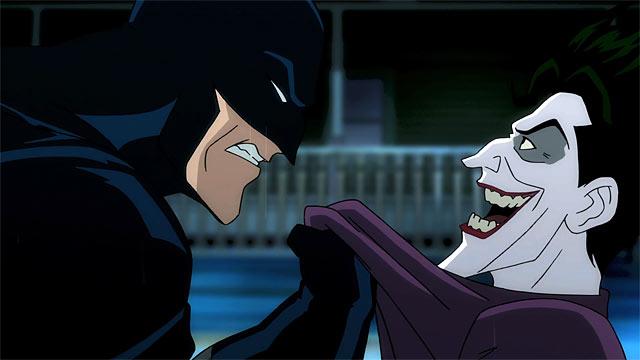 """Batman (voice of X) and The Joker (voice of Mark Hamill), from """"Batman: The Killing Joke"""""""