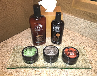 national men's grooming day + american crew = good road trip conference hotel