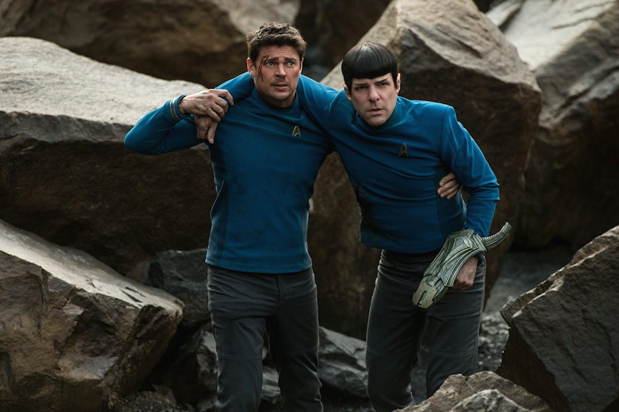 """Scotty (Karl Urban) and Spock (Zachary Quinto), from """"Star Trek Beyond"""""""