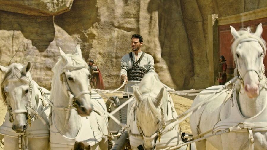 "Judah Ben-Hur (xx) rides his chariot into the track, ""Ben-Hur"""