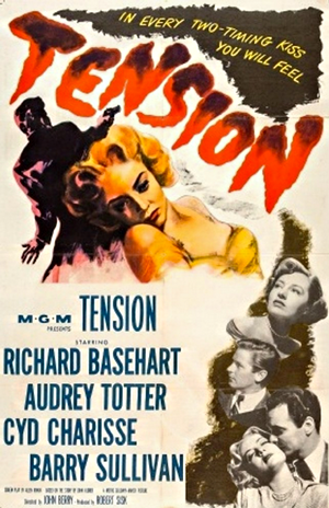 tension 1949 movie poster one sheet