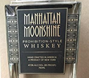 manhattan moonshine label