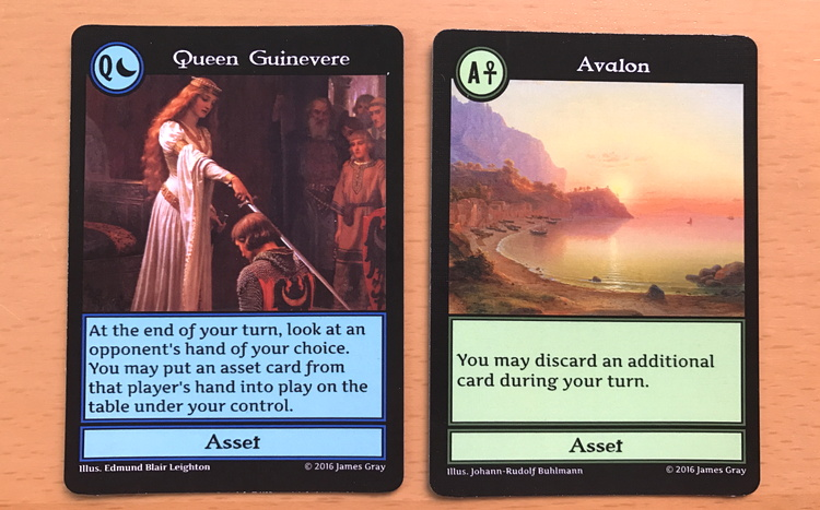 two powerful asset cards, crazier eights