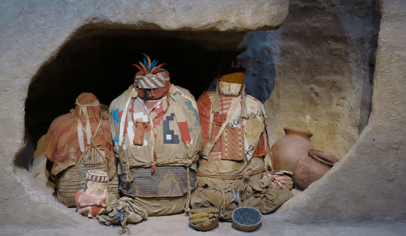 peruvian funeral tomb recreation, denver museum nature & science