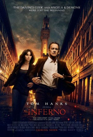 inferno movie poster one sheet
