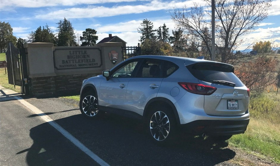 mazda cx-5 at little bighorn custer battlefield