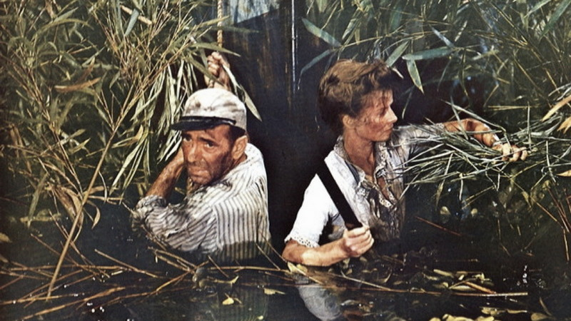 The African Queen (1951) Directed by John Huston Shown from left: Humphrey Bogart, Katharine Hepburn