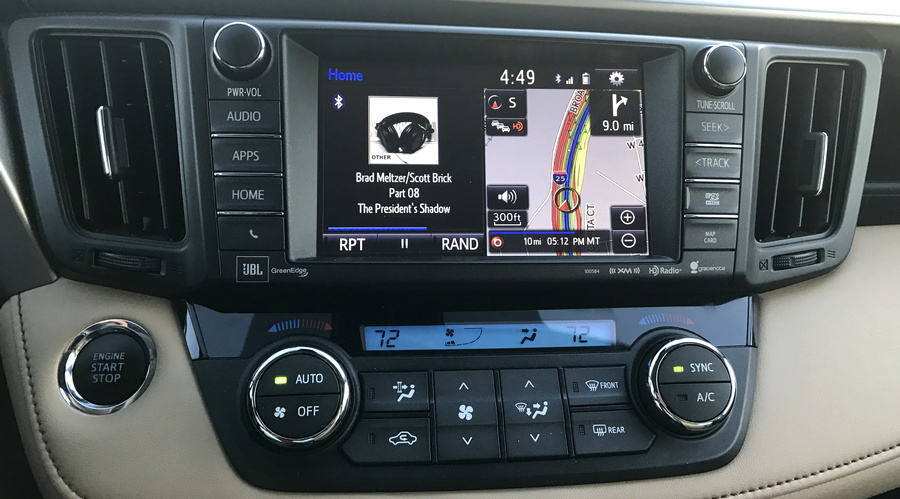 2016 toyota rav4 nav system audio map