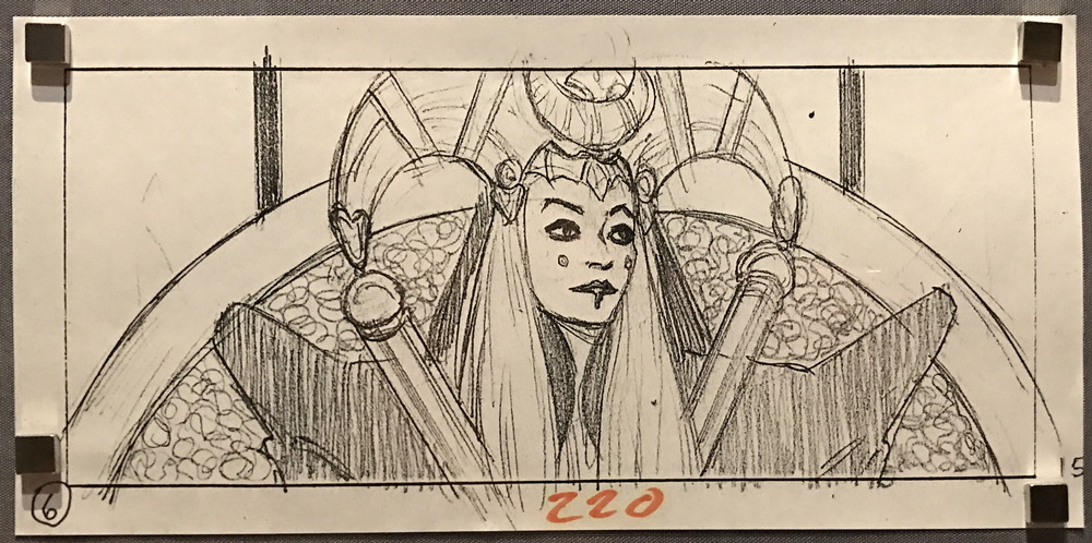 queen amidala storyboard sketch