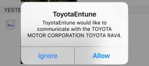 toyota entune wants to communicate with your toyota car apple iphone