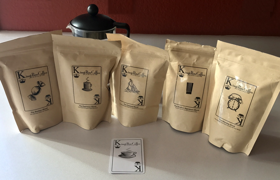 king's row coffee sampler