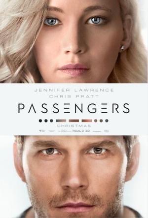passengers movie poster one sheet jennifer lawrence chris pratt