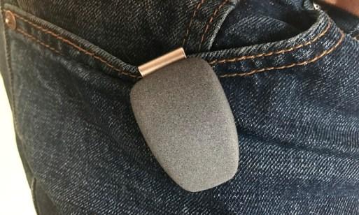 spire wellness tracker on pants jeans