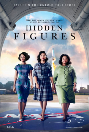 hidden figures movie poster one sheet 2017