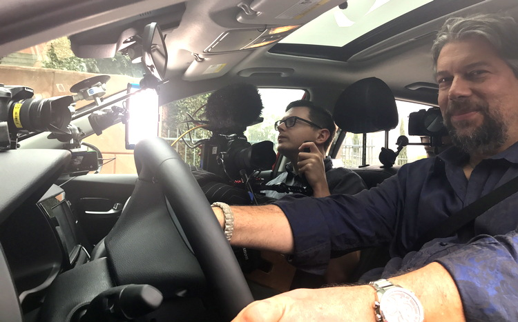 dave taylor driving kia niro while being filmed