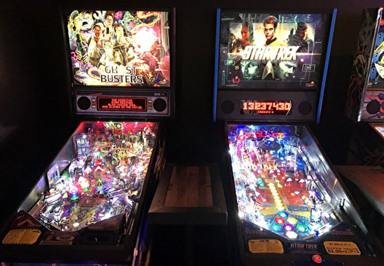 classic pinball games ghostbusters and star trek, ftw denver