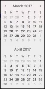 march april 2017 calendar