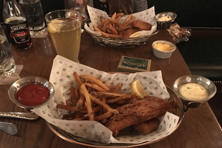 fish and chips at the golden bee, colorado springs