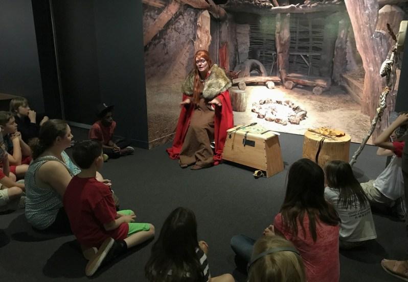 lady telling stories of norse myths mythology