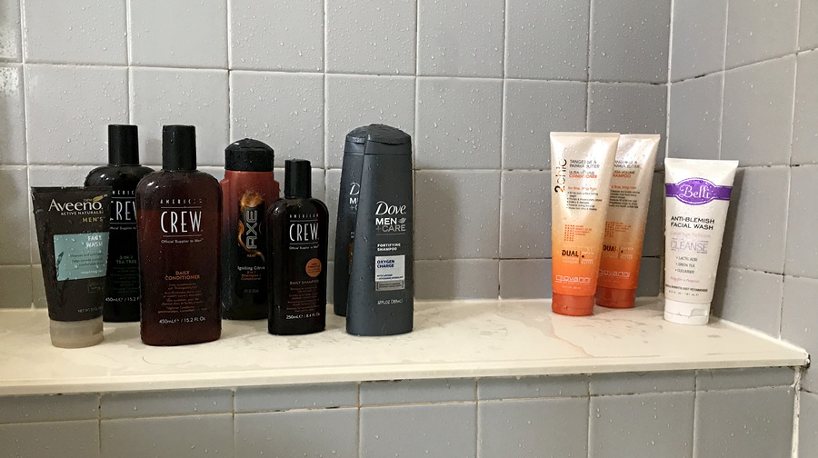 men's personal products versus women's products - color packaging
