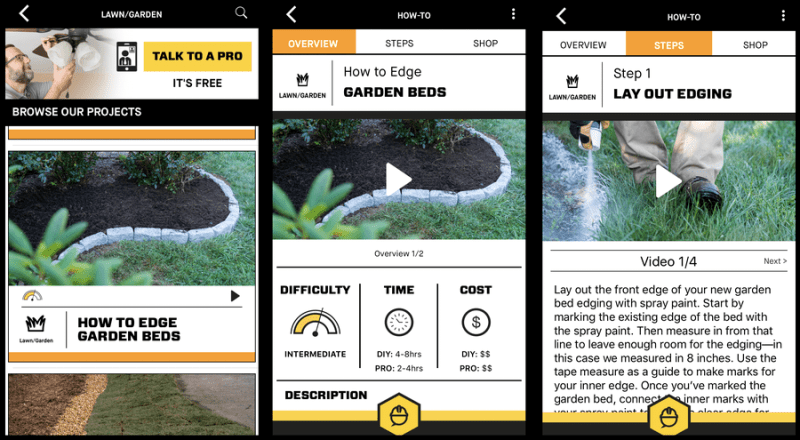 diyz app garden edging project