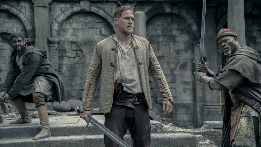 "Arthur Wields Excalibur, from ""King Arthur: Legend of the Sword"""