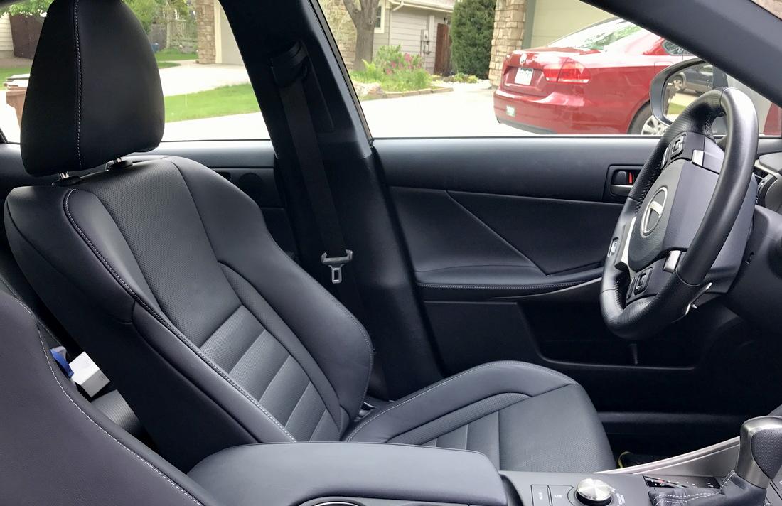 door post, driver's space, lexus is350
