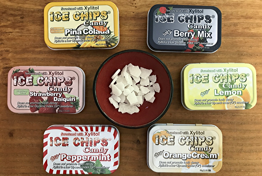 ice chips candy tins