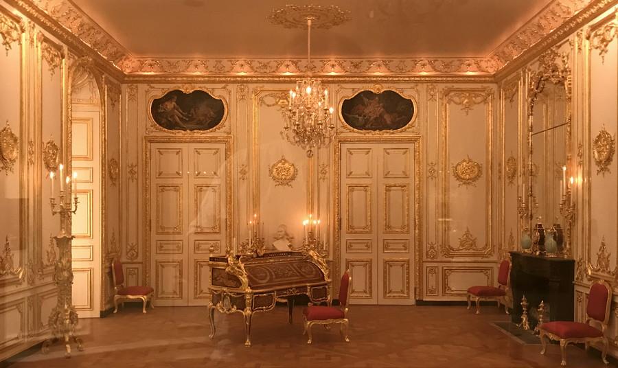 baroque room doll house diorama miniature