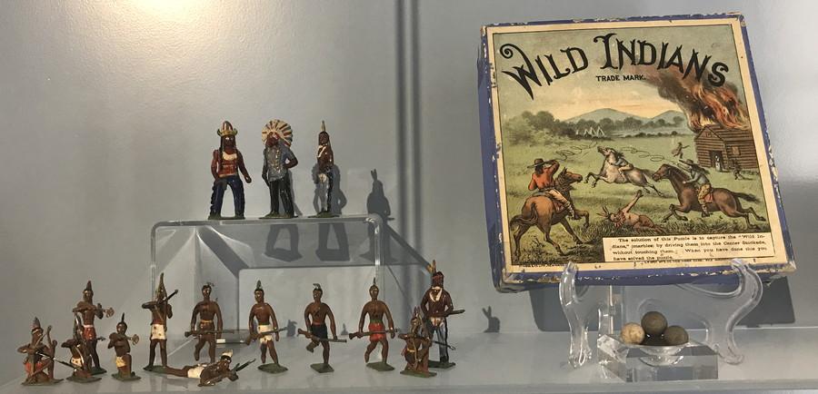wild indians antique historical toy