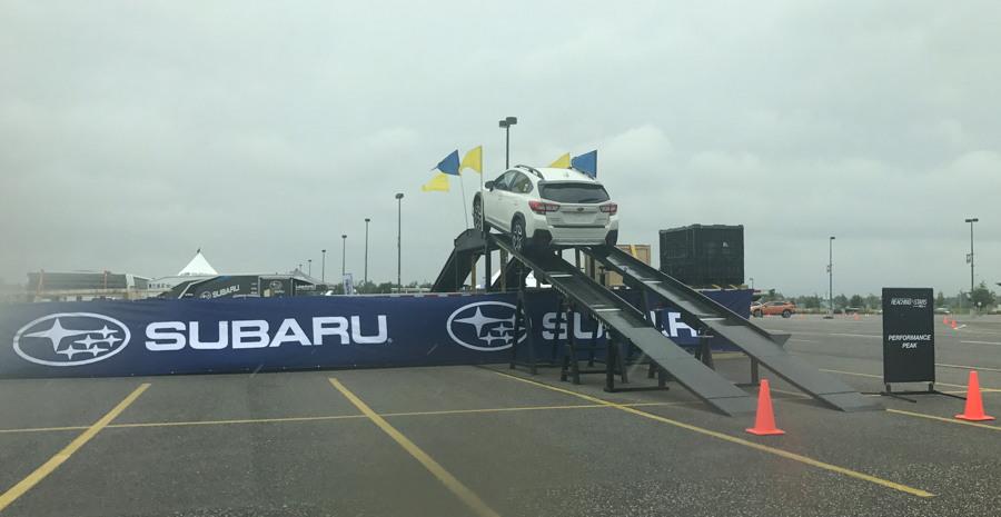 2018 subaru crosstrek on the ramp