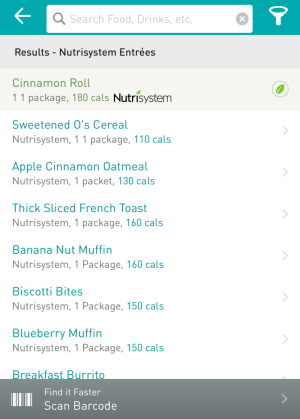 log your breakfast in the nutrisystem numi app
